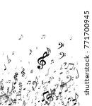 black musical notes flying...   Shutterstock .eps vector #771700945