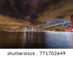 vivid sydney and cityscape | Shutterstock . vector #771702649