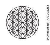 Logo Of A Flower Of Life  A...