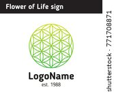 logo of a flower of life  a... | Shutterstock .eps vector #771708871