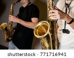 two man musicians play... | Shutterstock . vector #771716941