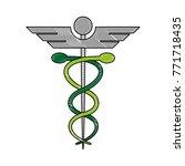 caduceus medical symbol | Shutterstock .eps vector #771718435