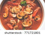indian mushroom curry or semy...   Shutterstock . vector #771721801