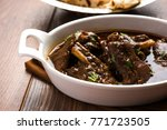 lamb or mutton shank  also...   Shutterstock . vector #771723505