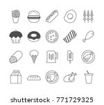 food icon set | Shutterstock .eps vector #771729325