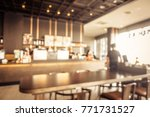 abstract blur coffee shop cafe...   Shutterstock . vector #771731527