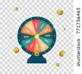 realistic 3d spinning fortune... | Shutterstock .eps vector #771736465