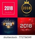 modern new year 2018 background | Shutterstock .eps vector #771736549
