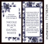 vintage delicate invitation... | Shutterstock . vector #771738244