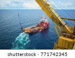 industrial offshore oil and gas ... | Shutterstock . vector #771742345