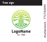 sign tree  application area... | Shutterstock .eps vector #771743395