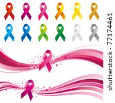 awareness ribbons design element | Shutterstock .eps vector #77174461