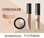 cosmetic product concealer... | Shutterstock .eps vector #771754024