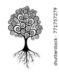 abstract vector tree with roots ... | Shutterstock .eps vector #771757279