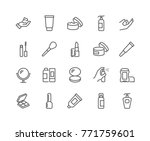 simple set of cosmetics related ... | Shutterstock .eps vector #771759601
