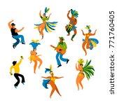 brazil carnival. vector... | Shutterstock .eps vector #771760405