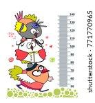 cute birds. meter wall or... | Shutterstock .eps vector #771770965