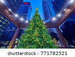 tall decorated christmas tree... | Shutterstock . vector #771782521