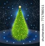 christmas tree  night scene...   Shutterstock .eps vector #771788311