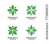 abstract organic logo template | Shutterstock .eps vector #771806815