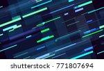 tech seamless pattern with neon ... | Shutterstock .eps vector #771807694