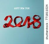 happy new year 2018 vector... | Shutterstock .eps vector #771811024