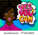 yes  you can message and... | Shutterstock .eps vector #771815869