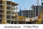 construction site background.... | Shutterstock . vector #771817921