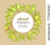 almond vector frame | Shutterstock .eps vector #771819661