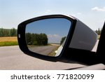 rearview mirror with reflection ... | Shutterstock . vector #771820099