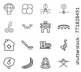 thin line icon set   parachute  ... | Shutterstock .eps vector #771828451