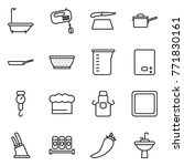 thin line icon set   bath ... | Shutterstock .eps vector #771830161