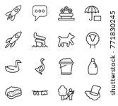 thin line icon set   rocket ... | Shutterstock .eps vector #771830245
