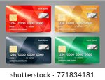 realistic detailed credit cards ...   Shutterstock .eps vector #771834181