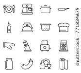 thin line icon set   cafe ... | Shutterstock .eps vector #771834679