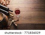 excellent red wine bottles ... | Shutterstock . vector #771836029