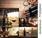 winemaking and wine tasting... | Shutterstock . vector #771836044