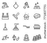 thin line icon set   vacuum... | Shutterstock .eps vector #771837751