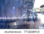 lathe inside close up.... | Shutterstock . vector #771838915