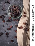 dry chokeberry and rosehip in... | Shutterstock . vector #771839425