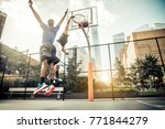 two afroamerican athlethes... | Shutterstock . vector #771844279