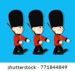 queen's guard in traditional...   Shutterstock .eps vector #771844849