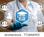 online education healthcare...   Shutterstock . vector #771846925