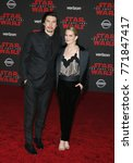 Small photo of Adam Driver and Joanne Tucker at the World premiere of 'Star Wars: The Last Jedi' held at the Shrine Auditorium in Los Angeles, USA on December 9, 2017.