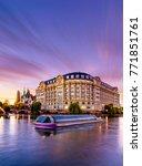 strasbourg alsace france. river ... | Shutterstock . vector #771851761