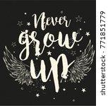 vector graphics girls t shirt... | Shutterstock .eps vector #771851779