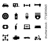 origami style icon set   car... | Shutterstock .eps vector #771854065
