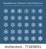 snowflake line icon editable... | Shutterstock .eps vector #771858031
