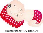 baby sleeping. illustration... | Shutterstock . vector #77186464