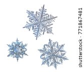 three snowflakes isolated on... | Shutterstock . vector #771867481